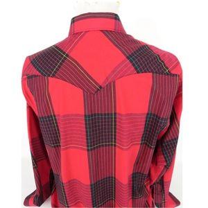 Wrangler Shirts - Wrangler XL Pearl Snap Shirt Plaid Cowboy Cut